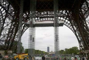 Renovation de la tour Eiffel